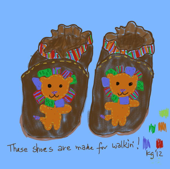 Lady Baby lion shoes