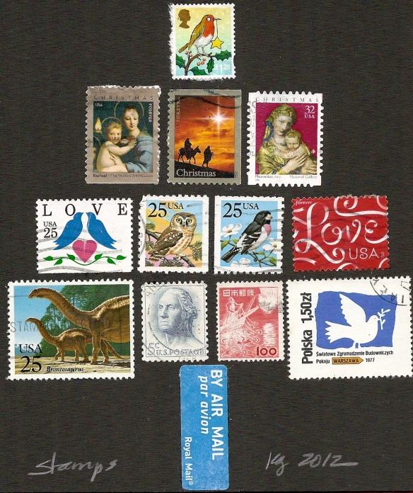 Twelve stamps