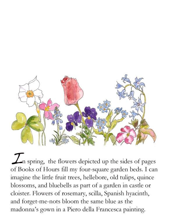 Spring foldcard April Flowerpiece p. 5