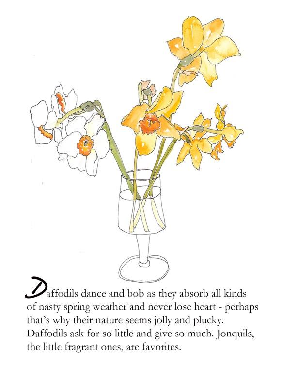 Spring foldcard daffodil p. 2