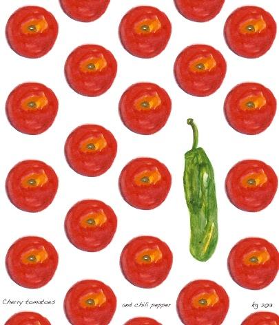 Cherry tomato pattern