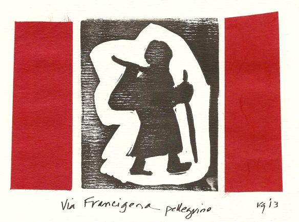 Via Francigena pellegrino