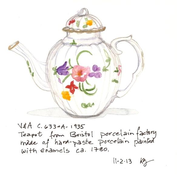 V&A 11:2 Teapot from Bristol