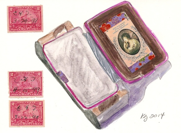 book forms with saved stamps