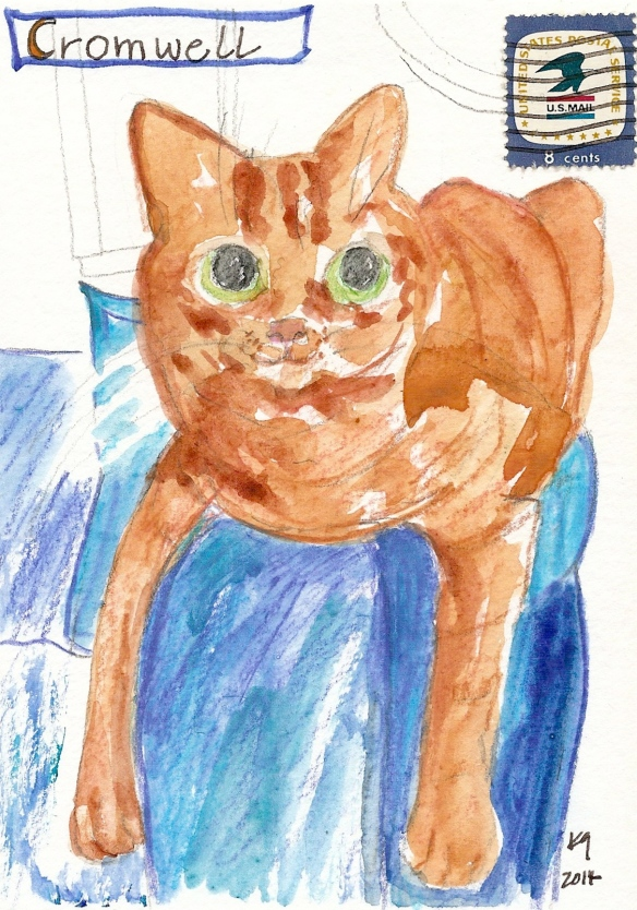 Cromwell - postcard portrait '14