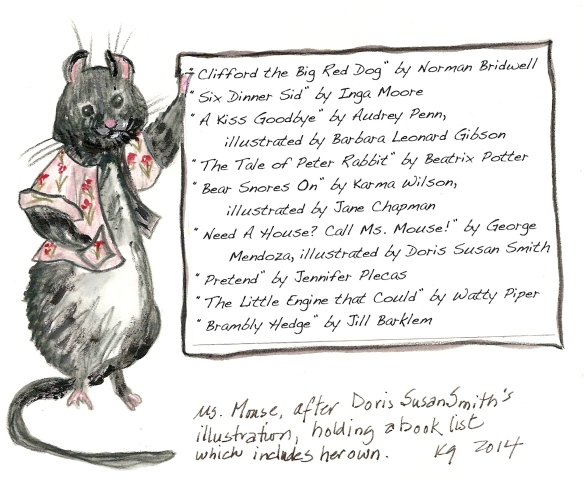Ms. Mouse with book list