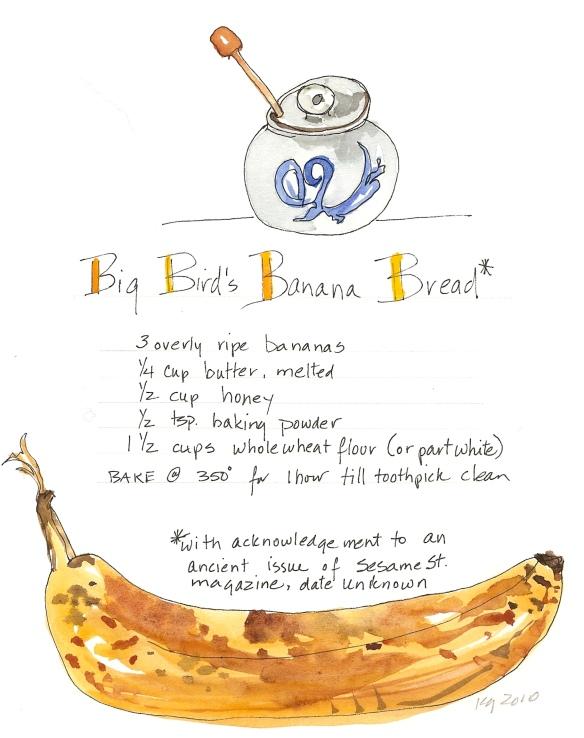 Big Bird's Banana Bread Recipe