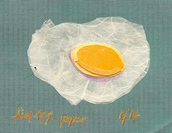 Fried egg - paper