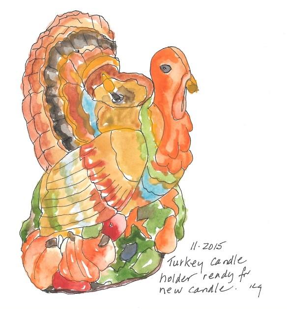 turkey candle holder