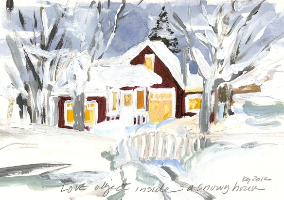 Love object:snowy house-1