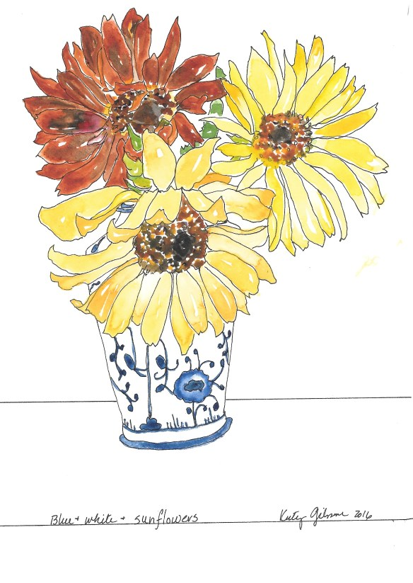 blue-white-sunflowers-1