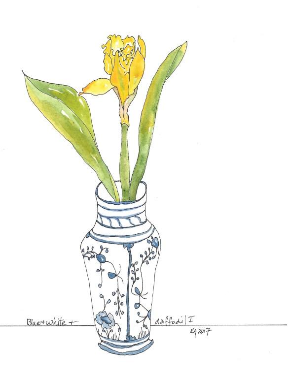 blue-white-daffodil-i