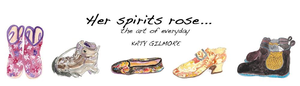 her spirits rose…
